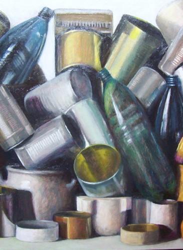 Bernard Bassac Tas boites bouteilles 70X55CM-BD