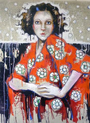 Catherine Cornec La louve II huile sur toile 100x81 cm 2015-BD