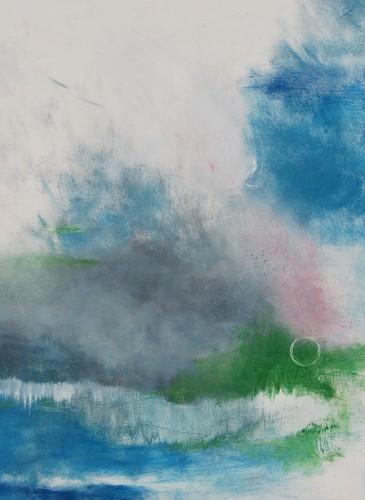 Céline Vaye Sans titre, huile sur toile, 100x100 cm-BD