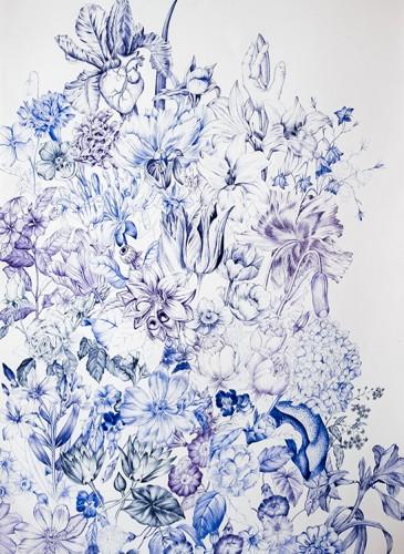 Juliette Chone Envahissement stylo bic  116x76 cm 2014-BD