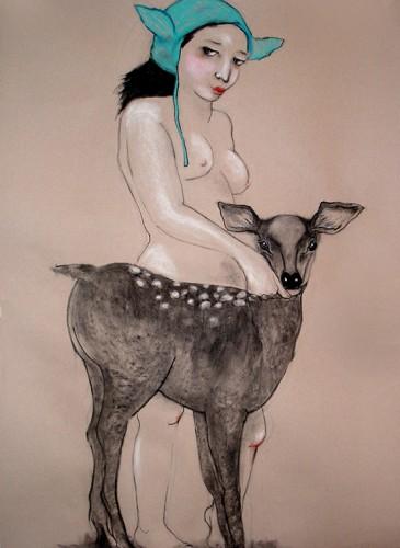 Marta Grassi-l'appel de la forêt-120x85cm-2012-BD