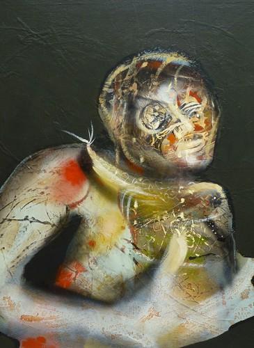 Régis Mucheron huile sur toile 100x100cm 2011 -bd