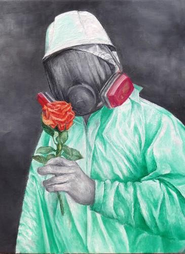 RAPHAEL BOUYER No loving,huile sur toile,46x38-bd