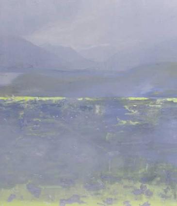 Paysage Alpin, huile sur toile, 114x146cm. © 2015