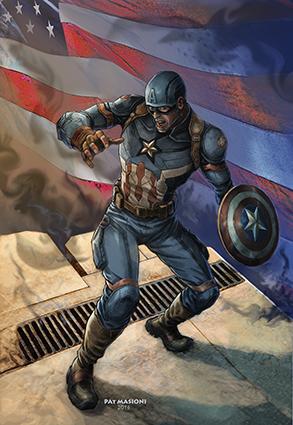 Captain America Pat Masioni juillet 2017BD